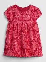 Baby Jacquard Empire-Waist Dress
