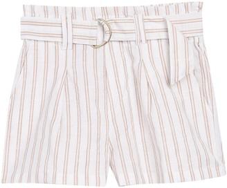 Planet Gold Striped Belted Paperbag Shorts