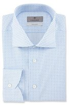 Canali Impeccabile Geometric-Print Dress Shirt, Blue