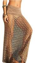 Santwo Women Swimwear Dress Lace Bikini Cover up for Beach Fishnet Crochet Skirt