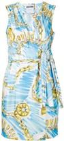 Moschino logo chain print dress