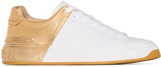 Balmain B-Court two-toned sneakers