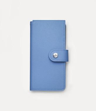 Vivienne Westwood Victoria Flap Iphone Wallet Light Blue- X / Xs