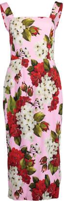 Dolce & Gabbana Square Neck Flower Print Tank Dress