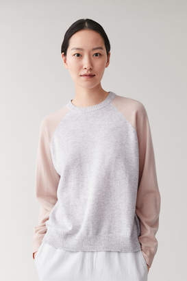 Cos COLOUR-BLOCK CASHMERE JUMPER