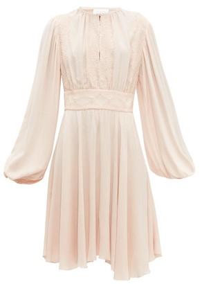 Giambattista Valli Balloon Sleeve Crepe Dress - Light Pink
