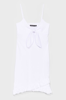 Nasty Gal Womens Tie Candy Ruffle Mini Dress - White
