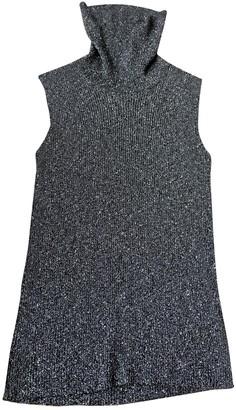 Chanel Silver Polyester Knitwear