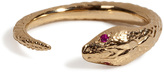 Pamela Love Solid Gold and Ruby Snake Ring