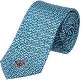 Versace Blue Squares Silk Tie