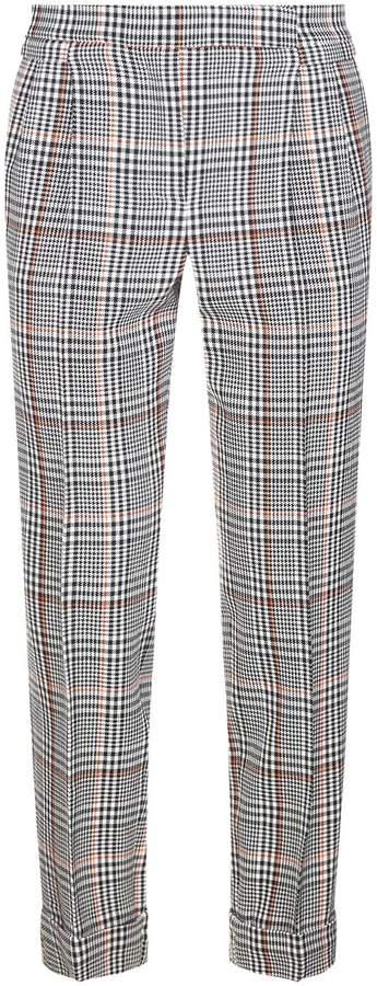 Amanda Wakeley Houndstooth Check Wool Trousers