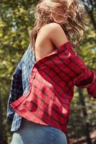 Urban Renewal Recycled Spliced Button-Down Flannel Shirt