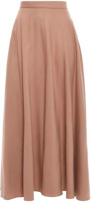 Nina Ricci Flared Wool-blend Felt Maxi Skirt