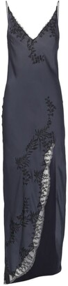 Carine Gilson Silk Embroidered Maxi Nightdress