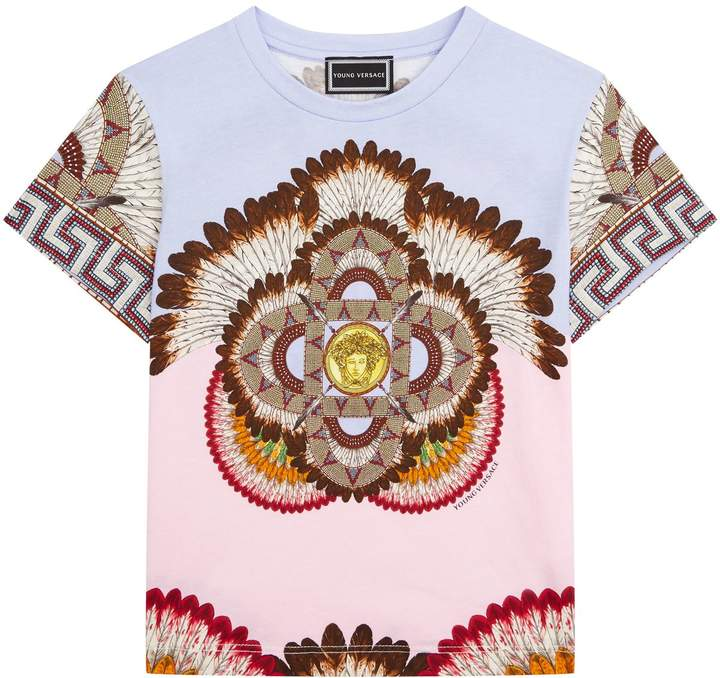 Versace Feather Print T-shirt