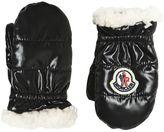 Moncler Nylon & Fauxshearling Gloves