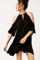 Azalea Cold Shoulder Flounce Dress