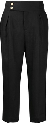 L'Autre Chose High Waisted Cropped Trousers
