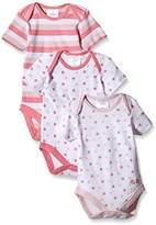 Twins Baby Girls Bodysuit, Shortsleeve, 3-Pack, Pink (Rosé )