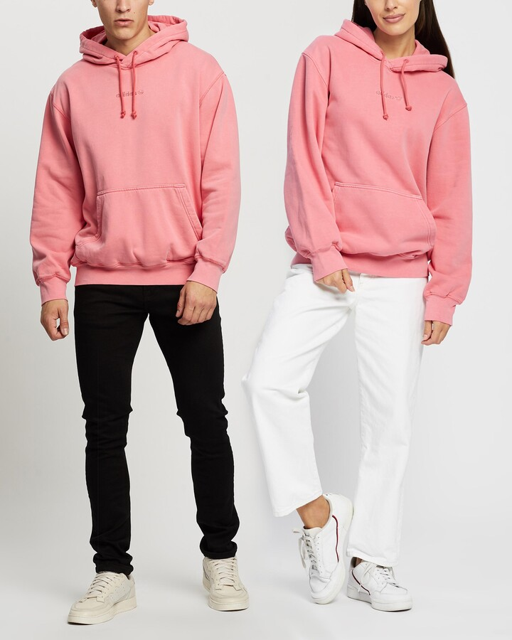 adidas Pink Hoodies - Garment Dye Hoodie - Unisex - Size XS at The Iconic