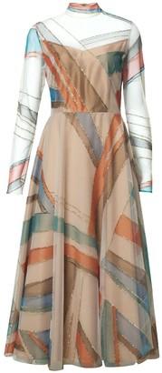 Diana Arno Daphne Midi-Length Tulle Dress