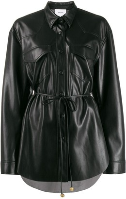 Nanushka tie-waist single breasted jacket