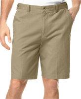 Geoffrey Beene Big and Tall Extender Waist Flat Front Shorts