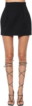 Versace High Waist Stretch Cady Puff Skirt