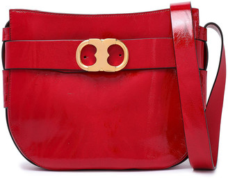 Tory Burch Glossed-leather Shoulder Bag