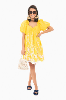 ENGLISH FACTORY Sally Scalloped Mini Dress