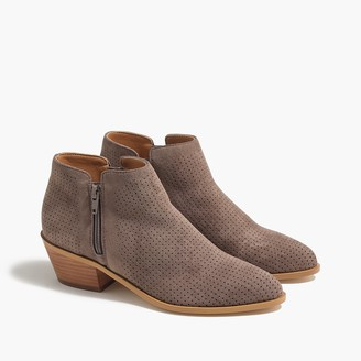 J.Crew Perforated microsuede boots