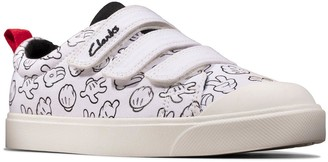 Clarks X Mickey Mouse City Glove Canvas Shoes - White
