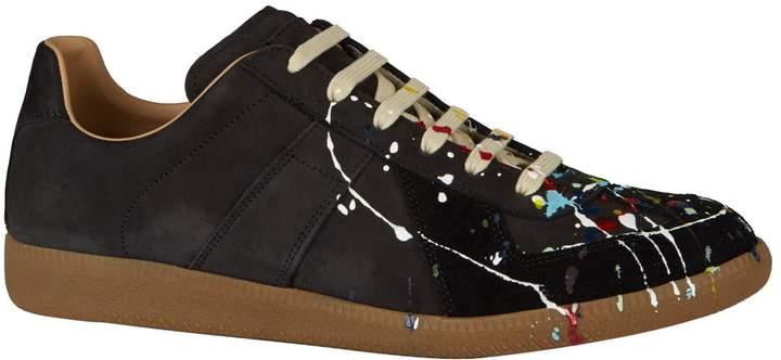 fb79754a00d Suede Paint-Drop Replica Sneakers