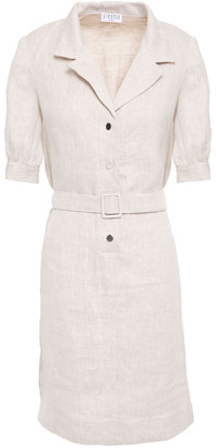 Claudie Pierlot Belted Linen Mini Dress