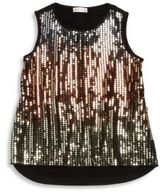 Design History Girl's Sequin Hi-Lo Tank Top