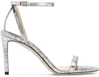 Jimmy Choo Minny 85mm metallic sandals