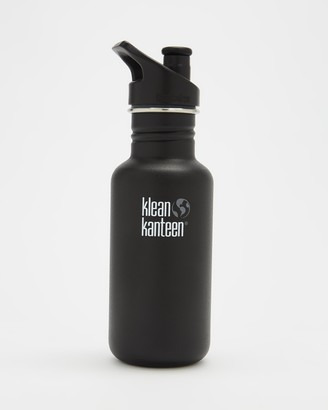 Klean Kanteen Black Water bottles - 18oz Classic Sport Cap Bottle - Size One Size at The Iconic