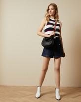 Ted Baker BONAYY Crochet striped sleeveless top