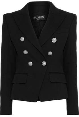 Balmain Double-breasted Cotton And Wool-blend Blazer