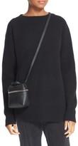 Kara Pebbled Leather Micro Satchel - Black
