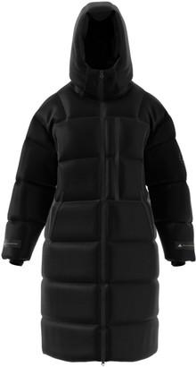 adidas by Stella McCartney Long Hooded Puffer Coat