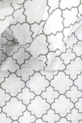 Melange Home Queen 400 Thread Count Cotton Lattice Sheet 4-Piece Set