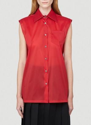 Prada Pocket Sleeveless Shirt