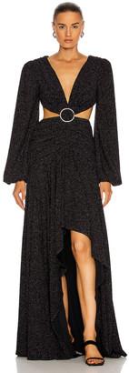PatBO Lurex Cut-Out Gown in Black | FWRD