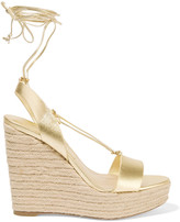 Michael Kors Clive metallic leather wedge sandals
