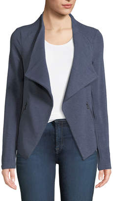 Neiman Marcus Majestic Paris for Draped French Terry Moto Jacket