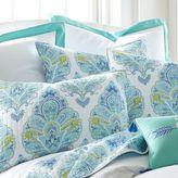 Brooke European Pillow Sham in White/Blue