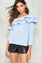 Nasty Gal Ruffle Around the Edges One Shoulder Top