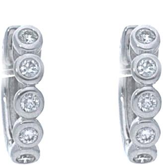 Nephora 14K 0.15 Ct. Tw. Diamond Plain Huggie Hoops