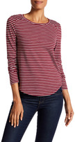 Melrose and Market Long Sleeve Striped Crew Neck Tee
